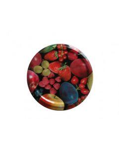 Twist off Deckel 63 mm mit Früchtedekor