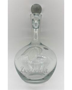 Flasche mit Gravur (Zwetschke)