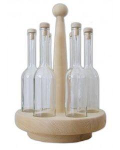 Rondell mit 6 Flaschen