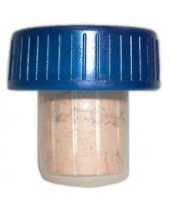 Korken blau Kunststoff 19mm